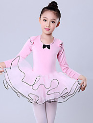 Ballet Performance Dresses Children's Performance/Training Polyester/Lycra Cascading Ruffle Dress Pink Kids Dance Costumes