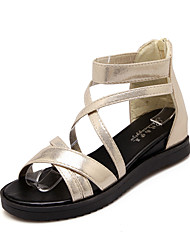Women's Shoes Wedge Heel Wedges/Slingback Sandals Dress/Casual Black/Silver/Gold