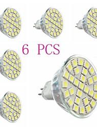 Faretti LED 29 SMD 5050 MR16 GU5.3(MR16) 5W 440 LM Luce fredda 6 pezzi AC 220-240 V