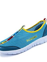 PINLI Men's Shoes Grey/Navy Blue/Blue Flat Heel Casual (Nylon)