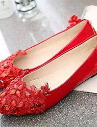Women's Shoes Pointed Toe Casual Flats Color;White/Red