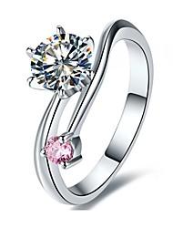 1.1CT Sales Solid Silver Genuine Brand 1:1 Custom Jewelry Companion SONA Simulate Diamond Engagement Ring Platinum Plate