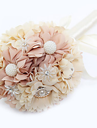 Light Brown Daisy Flower Artificial Crystal Beaded Flower Bride Vestidos Wedding Bouquets