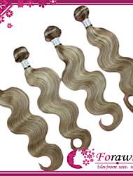 "4Pcs/lot 16""-24"" Brazilian Human Hair Extensions Mix color 27/613 Body Wave Human Hair Weave 100g/bundle"