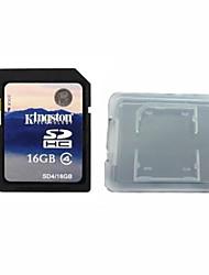 Kingston Digital 16GB Class 4 SD Memory Card  And The Memory Card Box