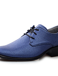 Men's Shoes Casual Leather Oxfords Blue/Black/White