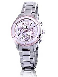 Women's Calendar Analog Stainless Steel Case Round Dial Stainless Steel Band Japan Quartz Sport Watch(Assorted Colors)