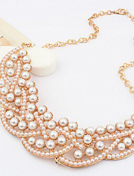 New Arrival Fashional Fresh High Quality Geometric Pearl Necklace
