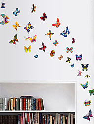pegatinas de pared de estilo calcomanías de pared pegatinas de pared de color mariposa pvc