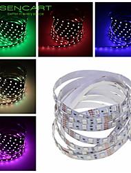 SENCART 1 M 60 5050 SMD Bianco caldo/Bianco/RGB/Rosso/Giallo/Blu/Verde/RosaAccorciabile/Telecomando/Oscurabile/Collagabile/Adatto per