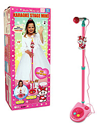 Pink Kity Electronic Microphone with Music and Loudspeaker