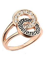 T&C Women's Retro Style Valentine's Day Gift Geometric Rings For With Austrian Crystal Stellux