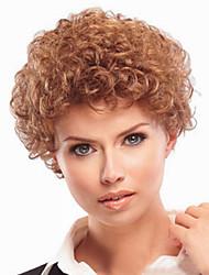 Europa y los Estados Unidos el nuevo corto peluca rizada marrón