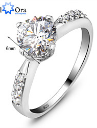 Genuine 925 Jewelry 1Ct Swiss Stone Ring Silver 925 Best for Weddings & Events Women Wedding Ring
