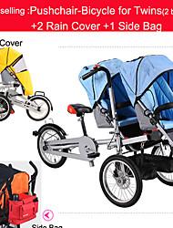 cochecito para gemelos cubierta set + 2 + 1 lluvia todo lado bicicleta madre plegable bolsa ruituo ™ 16inch bebé cochecito