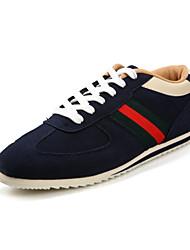 ZNPNXN Men's Shoes Black/Dark Blue Flat Heel Fashion Sneakers (Synthetic)