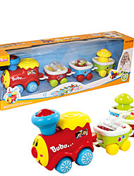 Early Development Electronic Toys Train Set without Track for Children Have Music and Light