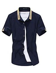 IAA Men's Casual Shirt Collar Short Sleeve Casual Shirts
