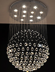 LED Pendant Lights Modern Crystal Chandeliers Clear K9 Crystal Globe Ceiling Lamps Fixtures H150CM