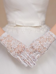 Full-finger Lace Wrist Length Wedding/Party Glove