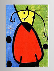 Oil Painting Cartoon Joan Miro Famous Paintings Decoration Abstract Hand Painted Canvas with Stretched Framed L/XL