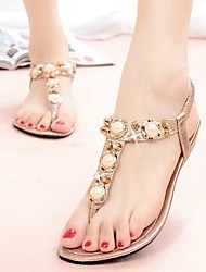 Women's Shoes Fashion Small Wedge Comfort Sandals with Pearls
