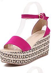 Women's Shoes  Wedge Heel Wedges/Heels/Platform/Comfort/Open Toe Sandals Casual Black/Red