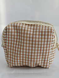 coton et lin à carreaux rétro glissière porte-monnaie d'une importante affaire de stockage Sac femme