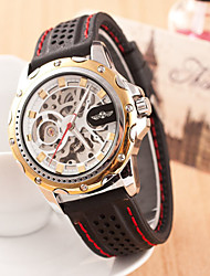 Men's Round Dial Case Leather Watch Brand Mechanical Watch(More Color Available)