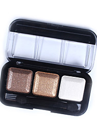 Bright Square 3 Colors Diamond Professional Dazzling Roast Eye Shadow Powder #2