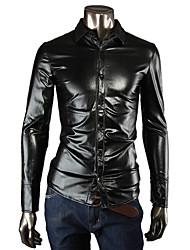 2014 hommes mode argent chemises classiques de l'or noir chemise de revêtement 3 de couleur SML XL XXL