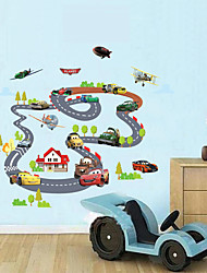 Wall Stickers Wall Decals, Children Auto Orbit PVC Wall Stickers