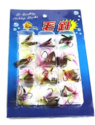 Flies / Fishing Hooks / Fishing Lures Fishing-12 pcs phantom Metal / PVC-N/ASea Fishing / Freshwater Fishing / Lure Fishing / General