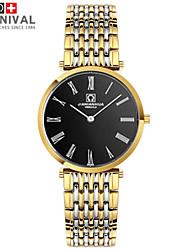 Watch The Haze JIANIANHUA Series Of Thin Small Men Quartz Watch Waterproof Two Fine Needle Strip's Gold Black Watch