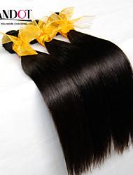"3Pcs Lot 8""-28"" Cambodian Virgin Hair Straight Natural Black Human Hair Weave Bundles Soft & Tangle Free Hair Extensions"