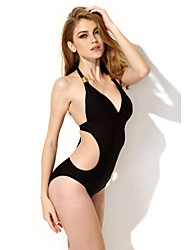 The new swimsuit  pure black conjoined sexy bikini in Europe and America foreign trade factory direct sale spot