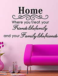Home Is Friend Home Decoration Quote Wall Decal Zooyoo8049 Decorative Adesivo De Parede Removable Vinyl Wall Sticker
