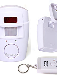 IR Motion Sensor Alarm Detector Infrared Remote Control Home Safety 80761