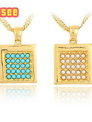 18K Golden Plated with High Quality  Imitation Pearl Pendant Necklace