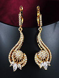 Party/Casual Gold Plated Drop Earrings Hottest Fashion Necklace And Earring Set