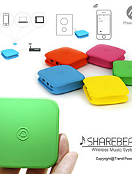 Power Trend ShareBeat Wi-fi Audio Receiver/ Wi-fi Plug-in for Streaming Music to Speakers with 900mAh Internal Battery