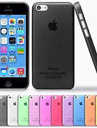 luxo tampa traseira ultra fino translúcida para 5c iphone