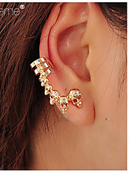 Lureme®EuropeanAnd American Popular Jewelry, Beautiful Personality Skull Ear Clip Earrings