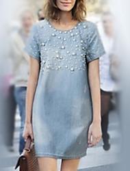 tubino demin moda causual Diors delle donne