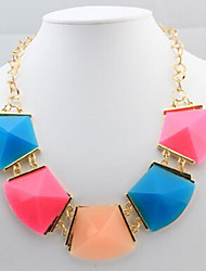 New Arrival Fashional Hot Selling Popular Geometric Gem Necklace