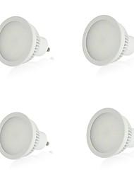 LeXing  4pcs GU10 5.5W 15x5730SMD 220-270LM  Warm White Light LED Spot Bulb With White (110-240V)