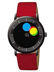 criativo conceito couro relógio silicone impermeável relógio de quartzo dos homens time2u do arco-íris
