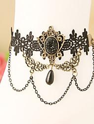 mulheres moda jóias corpo da praia do verão encanto estilo gótico do vintage do palácio laço ocasional tornozeleiras diamante negro