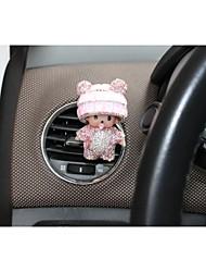 1pcs decoración de cristal del perfume del coche del ratón coche auto forma fragancia de ventilación de aire ambientador Perfume salida
