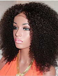 "Front Lace Human Hair Wigs For Black Women Brazilian Virgin Hair Kinky Curly Lace Front Wig 8""-34"""